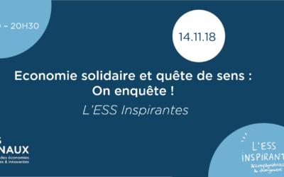 Conférence : L'économie solidaire et quête de sens : on enquête !